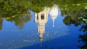Reflection Of The Cathedral Of The Savior In The Water stock video footage