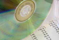 Reflection in CD. A disk a column of figure from the report Stock Photos