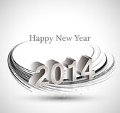 2014 reflection celebration for happy new year. Wave background Vector Illustration