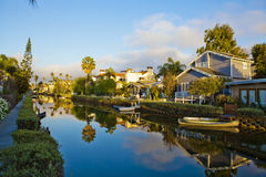 Reflection on channels in Venice Beach,. Los Angeles, California Stock Photos