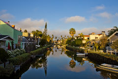 Reflection on channels in Venice Beach. Los Angeles, California royalty free stock images