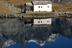 Reflection in a Chapel by the Lake Stock Photography