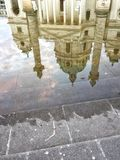 Reflection of charles church in Vienna Royalty Free Stock Photo