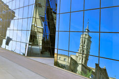Reflection of Church de San Juan Stock Photo