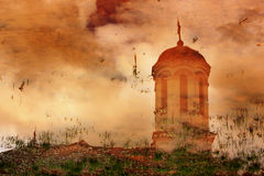 Reflection of a Church Royalty Free Stock Images
