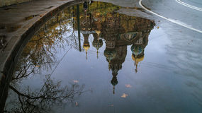 Reflection. Church of the Savior on Spilled Blood in St. Petersburg Stock Photos
