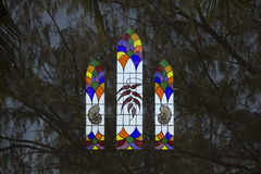 Reflection of church window Royalty Free Stock Photos
