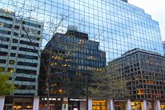 Reflection City buildings Royalty Free Stock Image