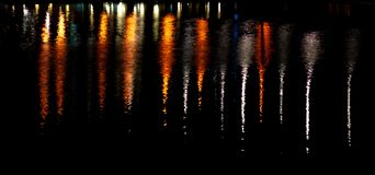Reflection of city lights Royalty Free Stock Photos