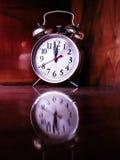 Reflection clock Royalty Free Stock Image