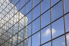 Reflection of cloud and blue sky Stock Image