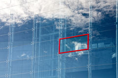 Reflection of a cloud in glass Stock Photos