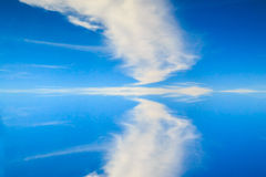Reflection of the clouds. Stock Images