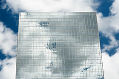 Reflection of clouds on a building Royalty Free Stock Photography
