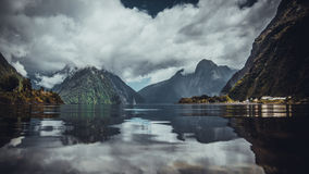 Reflection of Clouds in Lake Royalty Free Stock Images