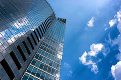 Reflection of clouds in a modern building Royalty Free Stock Image