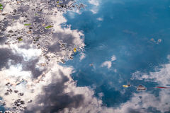 Reflection of clouds in water lake Royalty Free Stock Image