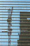 Reflection of construction Stock Photos