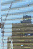 Reflection of construction Royalty Free Stock Photography