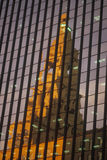 Reflection of the courthouse in  building window Royalty Free Stock Photography