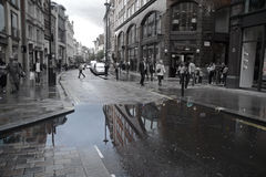 Reflection in Covent Garden Royalty Free Stock Photos
