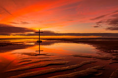 The Reflection Cross Royalty Free Stock Photo