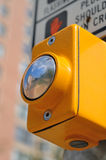 Reflection in Cross-Walk Button Stock Photography