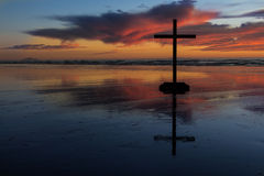 Reflection Cross Royalty Free Stock Images