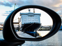 Reflection of a cruise ship Stock Photography