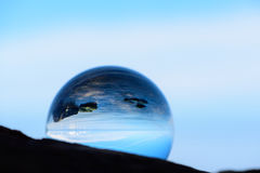 Reflection in crystal ball Royalty Free Stock Image
