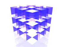 Reflection cube Stock Image