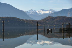 Reflection of dachstein glacier Royalty Free Stock Image