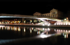 Reflection of Deusto universitys bridge Royalty Free Stock Photos