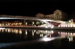 Reflection of Deusto universitys bridge Royalty Free Stock Photos