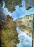 Reflection of downtown buildings Royalty Free Stock Photos