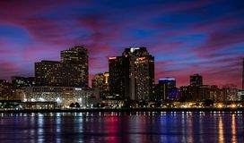 New Orleans at night stock photo