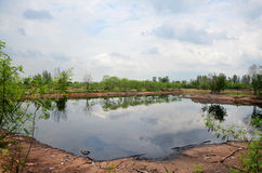 Reflection and Effects Environmental from Water contaminated wit Stock Photo