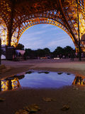 Reflection of the Eiffel Tower on a rainy Paris day Royalty Free Stock Photo