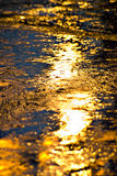 Reflection of the electric light in the rain Stock Image