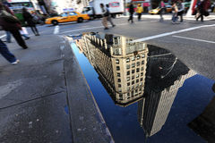 Reflection of the Empire State Building Royalty Free Stock Image