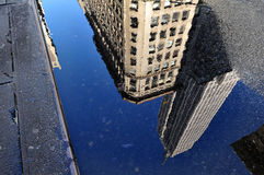 Reflection of the Empire State Building Stock Image