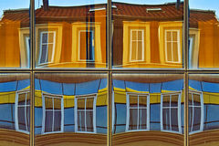 Reflection. Extremely colorful reflections on building a large front windows Kalca shopping center in Nis Royalty Free Stock Image