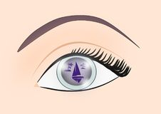 Reflection in the Eye stock illustration