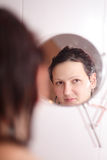 Reflection of the face Royalty Free Stock Images