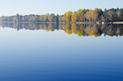 Reflection of Fall Colors in a Lake Royalty Free Stock Image