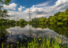 Reflection in the Farlows lake. Photo was taken in area of Farlows lake,UK royalty free stock photos