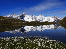 Reflection In Mountain Lake in Switzerland Stock Images