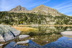 Reflection of the in the First Lake of Pessons, Andorra Royalty Free Stock Image