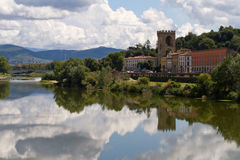 Reflection in the Fiume Arno Royalty Free Stock Photo