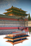 The reflection of  The forbidden City Stock Photo